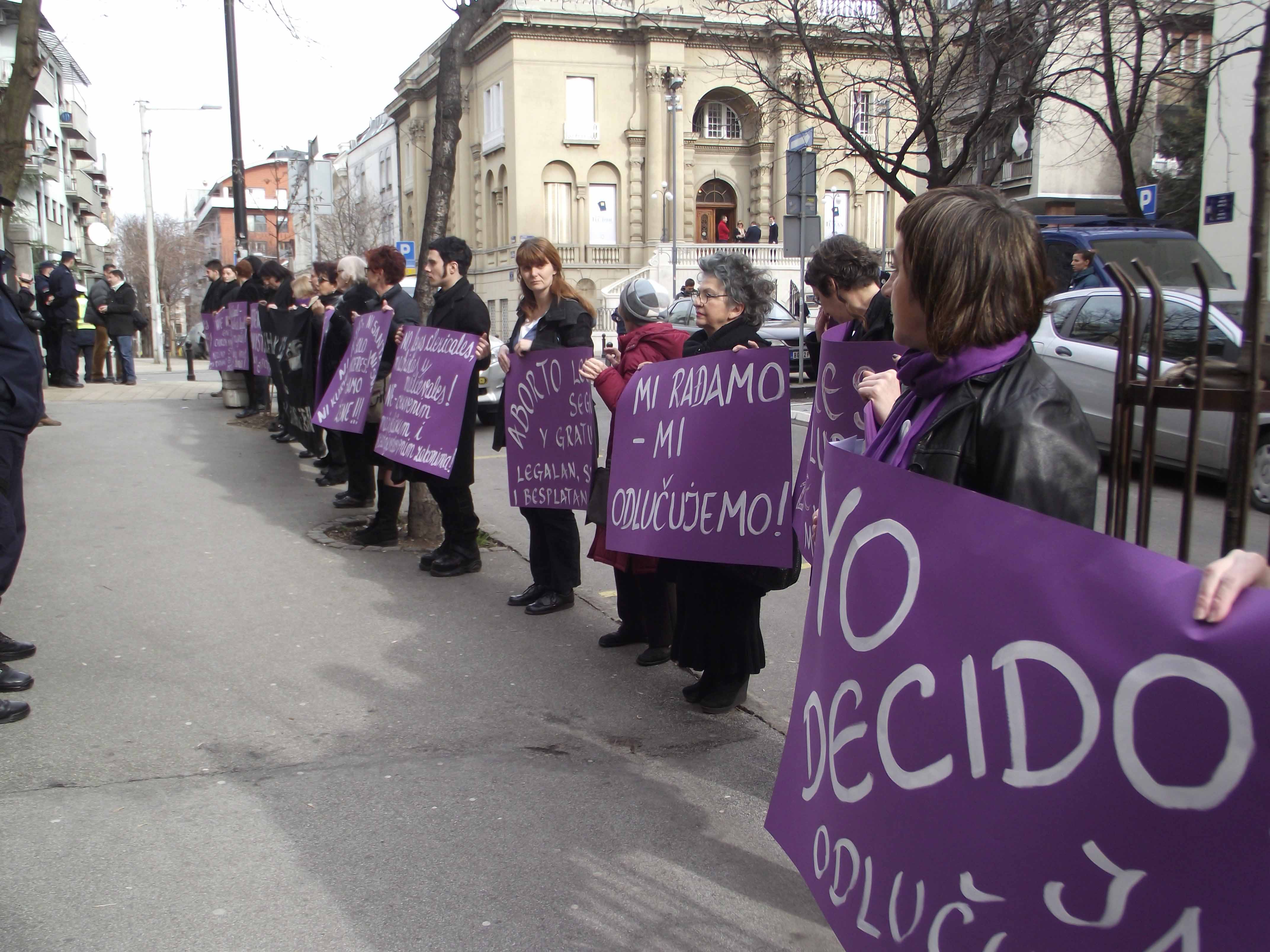 Manifestación Mujeres de Negro, Belgrado