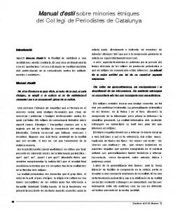 Manual CAC d'estil minories ètniques