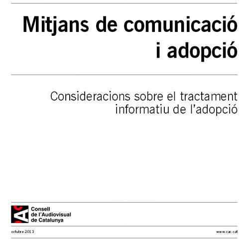 Mitjans de comunicació i adopció