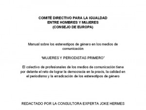 Manual Mujeres y periodistas primero