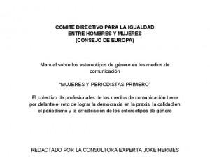 """Manual """"Mujeres y periodistas primero"""""""