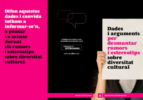 Dades i arguments per desmuntar rumors i estereotips sobre diversitat cultural, Xarxa Antirumors