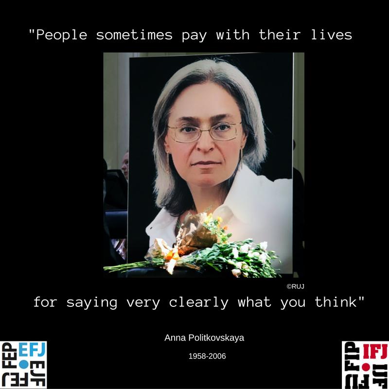 Deu anys de l'assassinat de la periodista Anna Politkovskaya