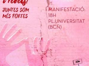 Manifest 25N 2017: ENS VOLEM VIVES, LLIURES I REBELS! JUNTES SOM MÉS FORTES!