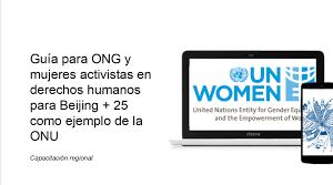 Guia per a ONG i dones activistes en drets humans per a Beijing + 25